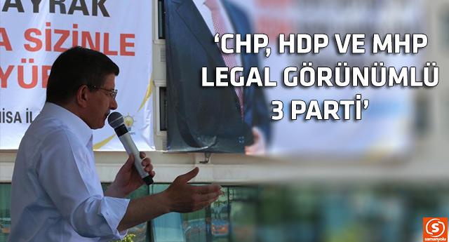 Davutoğlu, partileri illegal ilan etti
