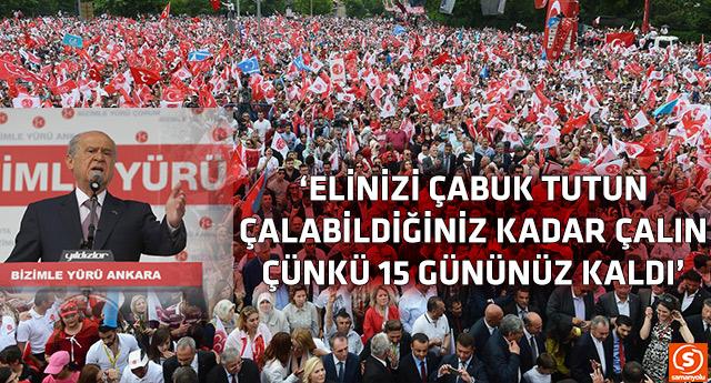 MHP'nin Ankara mitinginde büyük kalabalık