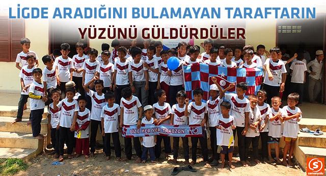 Kamboçyalı yetimlerin Trabzonspor sevgisi