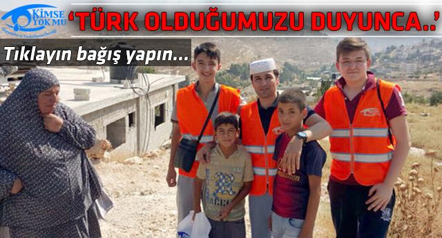 Kimse Yok mu gönüllülerinden Filistin çıkarması!