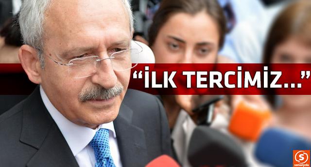 Kemal Kılıçdaroğlu'ndan koalisyon açıklaması