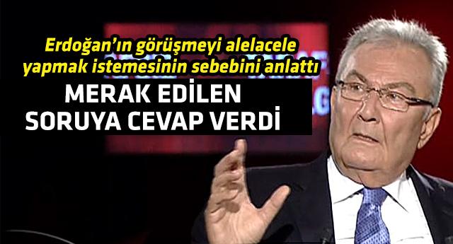 Deniz Baykal'dan Erdoğan görüşmesiyle ilgili önemli açıklama