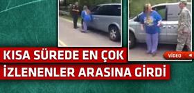 Polisler tarafından durdurulan kadına büyük sürpriz