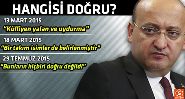 Yalçın Akdoğan'dan aynı konu 3 farklı açıklama