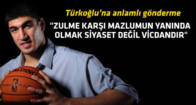 Enes Kanter, Hidayet Türkoğlu'na böyle cevap verdi