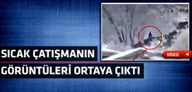 Van'da 2 PKK'lının vurulma anı kamerada