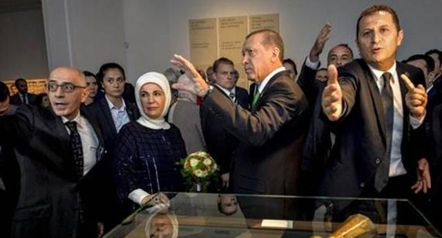 Erdoğan'ın korumaları ile Belçikalı korumalar yumruklaştı