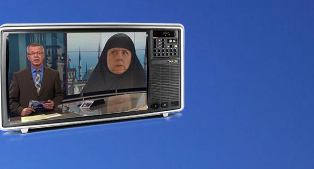 Devlet televizyonu Merkel'i böyle eleştirdi!