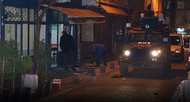 Dernek lokaline ses bombası atıldı