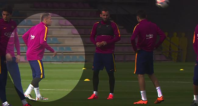 Neymar ve Munir'den antrenman şov