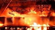 O ülkedeki kültür etkinliğinde büyük yangın