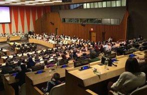 Birleşmiş Milletler salonu böyle coşku görmedi