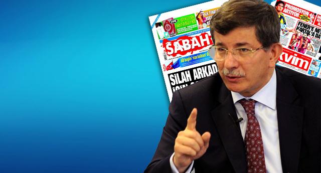 Yandaş medyadan Davutoğlu'na 'kriz' sansürü!