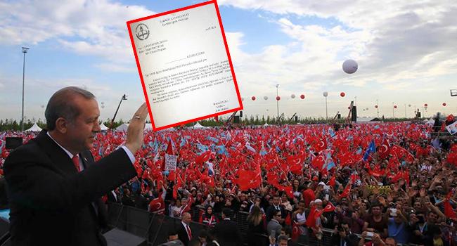 Okullar camiler AKP mitingi için seferber edildi