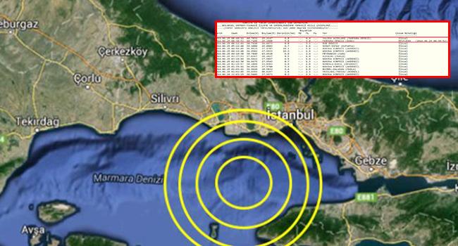 İstanbul beşik gibi sallandı; işte depremin merkez üssü ve büyüklüğü