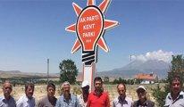 Belediyenin parkına AKP'nin adı verildi!