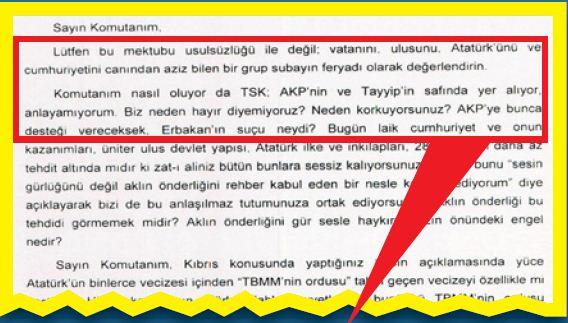 """2609 mektup3 - """"GENÇ SUBAYLAR TEDİRGİN"""" MANŞETİNİN SIRRI ÇÖZÜLDÜ"""