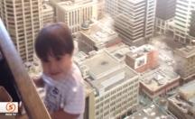 Çocuğuna öyle efektlerle film çekti ki... -video