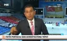 Canlı yayında AKP'nin akreditasyonuna tepki gösterdi! -video