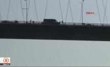 Boğaziçi Köprüsü'nde intihar anı kamerada! -video