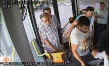 Otobüs şoförüne dayak kamerada! -video