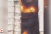 Sibirya'da 25 katlı bina alev alev yandı!