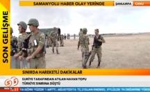 Suriye'den gelen havan topu Türkiye'ye düştü! -video