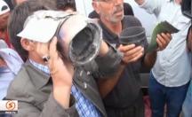 Suruç'a düşen top mermisine kızan halk Erdoğan'a tepki gösterdi! -video