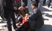 Yaşlı kadın Barzani'yi Davutoğlu zannedince... -video