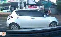 Kazadan son anda kaçarak adeta tecrübesini konuşturdu -video