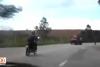 Motosiklet sürücüsü hayatının hatasını yaptı!