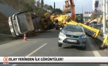 İstanbul'daki vinç kazasından ilk görüntüler! -video