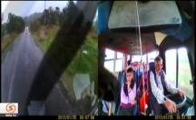 Öğrenci minibüsünde yaşanan korku dolu anlar -video
