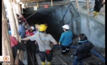 Kömür ocağında çok sayıda işçi mahsur -video