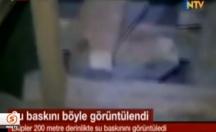 Maden ocağındaki su baskını böyle görüntülendi -video
