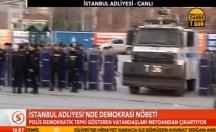 İstanbul polisinden demokrasi nöbetine müdahale -video