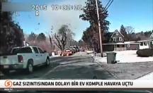 Gaz sızıntısı bir evi komple havaya uçurdu! -video