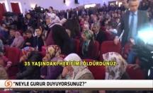 Bakanlara destek sloganına madenci eşleri tepki gösterdi! -video