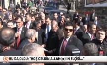 Erdoğan'a böyle seslendi: Hoşgeldin Allah'ın elçisi -video