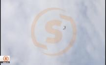 Motoru alev alan uçağın ilk görüntüleri -video