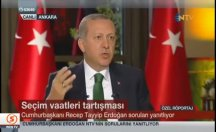 Erdoğan 'yolsuzluk' diyemedi! -video