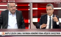 AKP'li Çelik canlı yayında kendini köşeye fena sıkıştırdı! -video