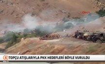 Topçu atışlarıyla PKK hedefleri böyle vuruldu -video
