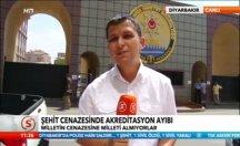 Şehit cenazesinde akreditasyon ayıbı -video