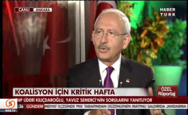 Kılıçdaroğlu: Davutoğlu koalisyon kurmak istiyor