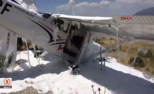 Burdur'da uçak düştü