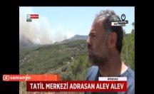 Korkutan yangın tatil bölgelerini boşalttı