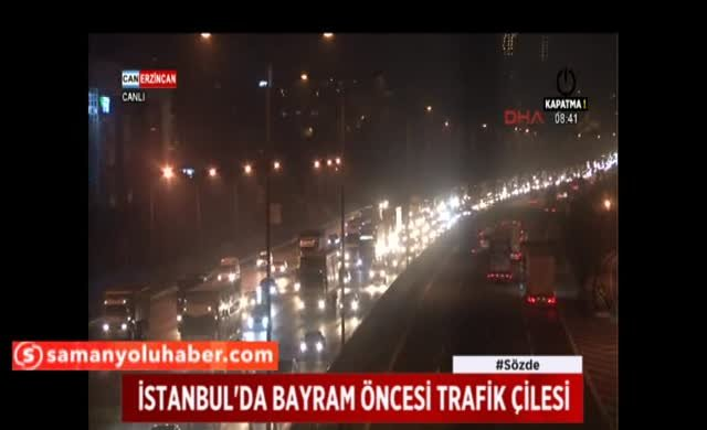Yollar kilit İstanbul-Bolu arası trafik durma noktasına geldi