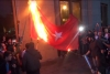 Ermenistan'da Türk bayrağı yakıldı